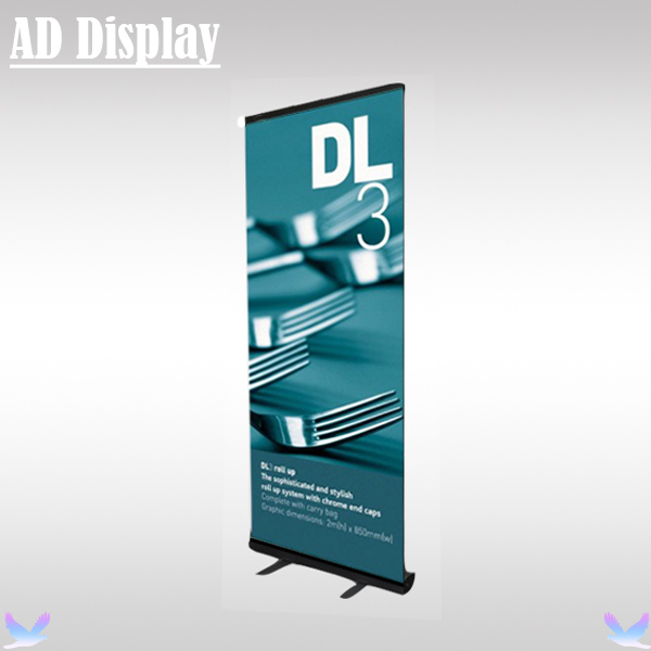 80*200cm Black Color High Quality Aluminum Portable Roll Up Banner Advertising Display Stand,Exhibition Business Promotion Stand(China (Mainland))