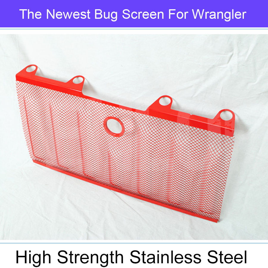 The Newest Car-Styling Red Stainless Steel Bug Screen Shiled For Offroad Wrangler <br><br>Aliexpress