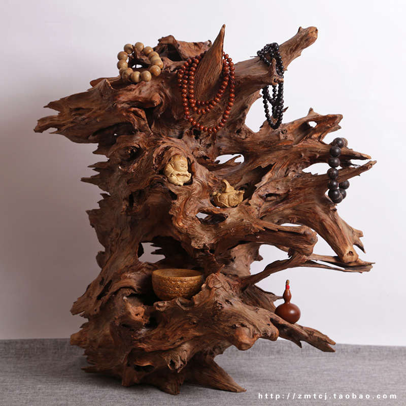 Pure natural wood carving ornaments weathering arborvitae laogendiao jewelry display shelf Club pine root(China (Mainland))
