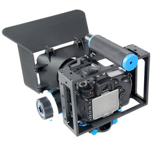 Buy SLR Photographic Camera Kit Portable DSLR Cage Set Video Stabilizer Camera Cage+Matte Box+ Follow Focus 6D 7D 60D 70D 5DII for $113.60 in AliExpress store