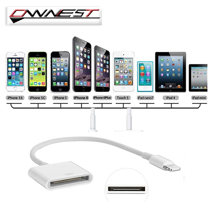 8 Pin To 30 Pin Dock Charger Adapter Converter For iPhone 7 6 6s Plus 5S SE IPAD Mini Air to 4 4S ipod dock Station Cable Cord(China (Mainland))