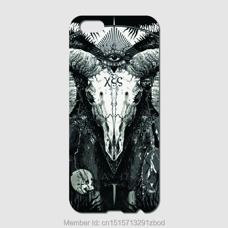 Satanic Skull Phone cases For iPhone 6 6S Plus 5S 5C 4S iPod Touch 6 5 4 For Samsung Galaxy S7 S6 Edge Pus S5 S4 S3 mini S2(China (Mainland))