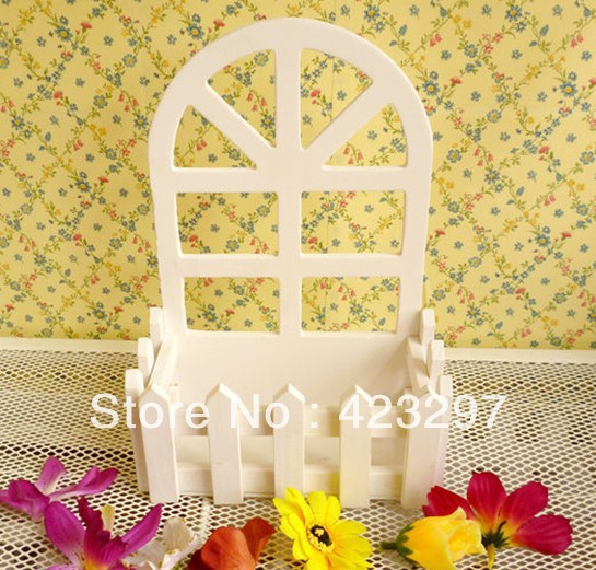 Hanging wall wooden fence artificial flowers arrangement vase pot plant holders home decoration - Sweet Fashion Home store