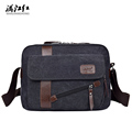 Men s Fashion Canvas Business Travel Shoulder Bags Male Korean Style Messenger Bags Briefcase Handbags Crossbody