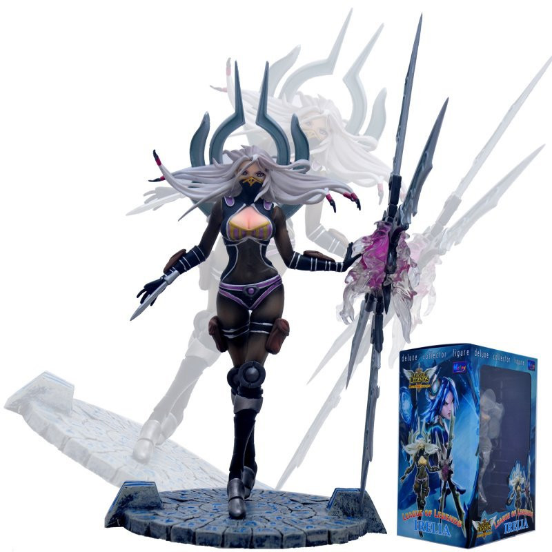 Hot 23CM League LOL Irelia YiRuiLi PVC Collection Action Figure Model Doll Toys with Delicate Box for Children Kids Gifts<br><br>Aliexpress