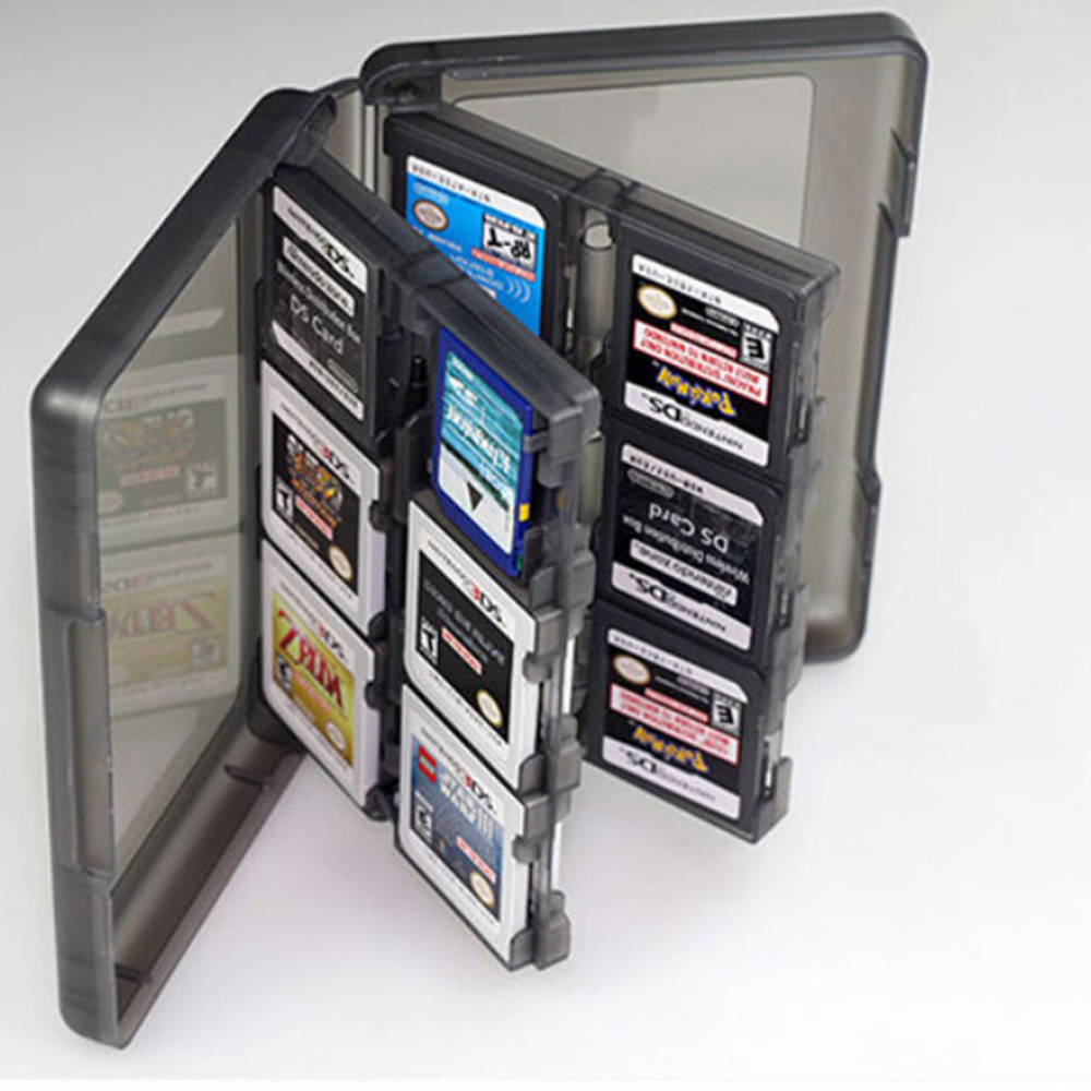 Гаджет  Free Ship 28 in 1 Protective Game card Cartridge Holder Case Box Memory Card Case For Nintendo DS / DS Lite / 3DS / 3DS XL/LL None Бытовая электроника