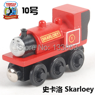 skarloey, Thomas & his friends trains toy, diecast wooden thomas train with magnet, toys for kids, children toys, free shipping(China (Mainland))