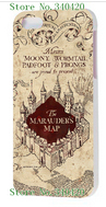 2014 new arrival HOT new design 1pcs Marauders Map designs luxury White hard case cover for iphone5 5s + free shipping