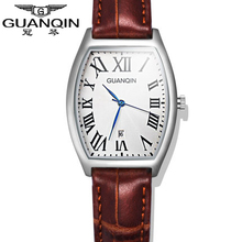 Origianl GUANQIN Top Brand Luxury Fashion Quartz Watches Women Waterproof Sapphire Mirror Leather Strap Dress Lady Watches