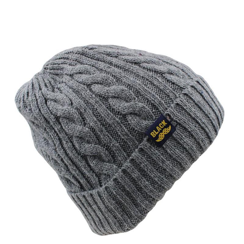 Fashion Women Adult Wool Winter Snow Hat Caps Warm Black Hat Unisex Beanies Skullies Casual Cap For Female Knit Bonnet