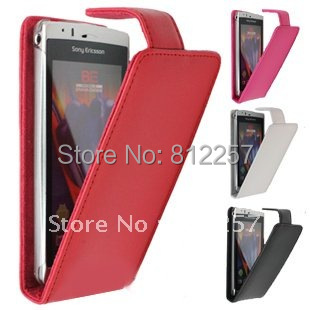 High Quality Leather Case + Screen Protector for Sony Ericsson Xperia Arc S X12 LT15i LT18i Leahter Cover Case Free shipping