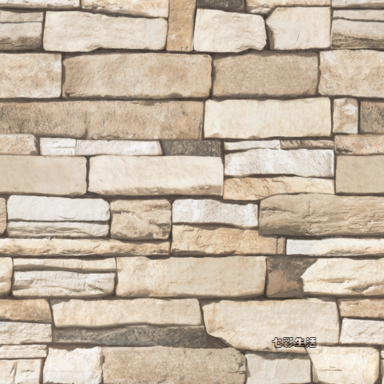 Selbstklebende Tapete Ziegel : Brick and Stone Pattern Contact Paper