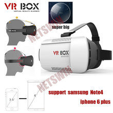 2015 Google cardboard HeadMount VR BOX Version VR Virtual Reality Glasses rift 3d movies Games  for 3.5″ – 6.0″ Smart Phone