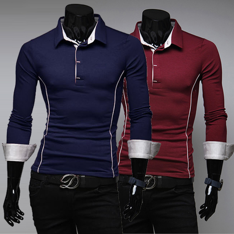 2014 Autumn Long Sleeve T Shirt Top Designer Slim Tight