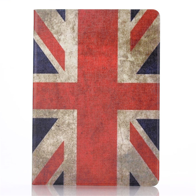 SimpleStone United Kingdom UK Flag Stand Leather Flip Case Cover For iPad 6 Air 2 May30