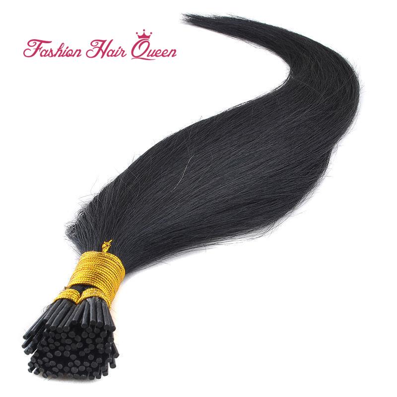 1g/strand 50pcs I Tip Hair Extension Brazilian Remy Virgin Human Hair Keratin Capsule #1 Black 18202224 45-60cm 12color<br><br>Aliexpress