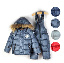 Boy's Winter clothing set Brand children's sport suit set Boy Ski suit sport sets High quality windproof Down Jackets +pants(China (Mainland))