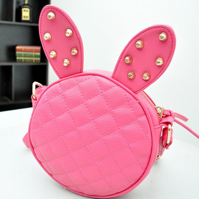 2016 fashion new rabbit kids shoulder bags children girls messenger bags kids girls sweet princess bags(China (Mainland))