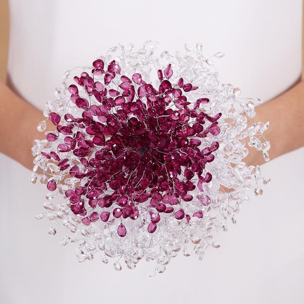 Wedding Bouquet Luxury Cheap White Rhinestones Wedding Flowers Bridal