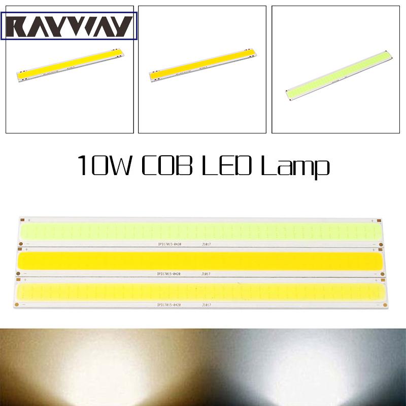 2pcs LED Lamp DIY Light Material LED Chip 10W Ultra Bright COB Strip Pure/Warm White Lamp Bead Chip diy DC 10V - 12V 900~950LM(China (Mainland))