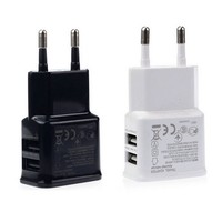 2A Dual 2Ports USB EU Wall Charger Adapter for Samsung for iPhone for HTC for MOTO Perfect Drop Shipping Wholesale