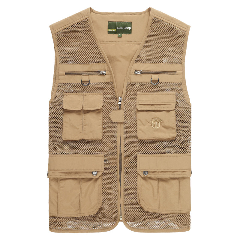 Quality Men's Casual Vest Outdoor Multifunctional Fishing Multi-pocket Waistcoat Male Sleeveless Jacket M-4XL - BE MY STYLE store