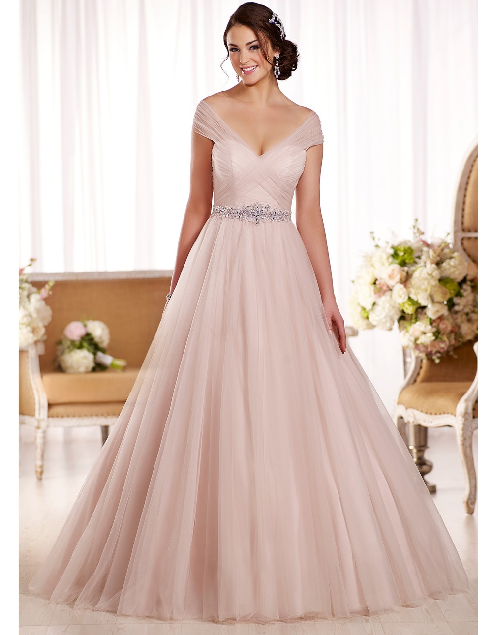 Blush Plus Size Wedding Dress - Gown And Dress Gallery