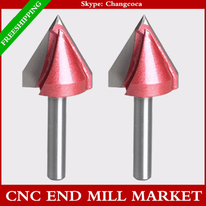 6mm*60degree*22mm,CNC Tungsten steel 3D V bit,CNC machine tool,PVC,MDF,Acrylic,Carbide end mill,woodworking insert router bit(China (Mainland))
