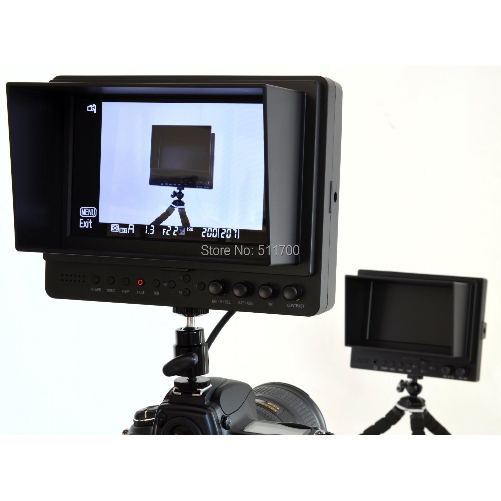 7 Inch LCD Lilliput Monitor For HD On Camera,1024x 600 Lilliput 665 Video Monitor,YPbpr/HDMI/Video/Audio In,Contrast:800:1(China (Mainland))