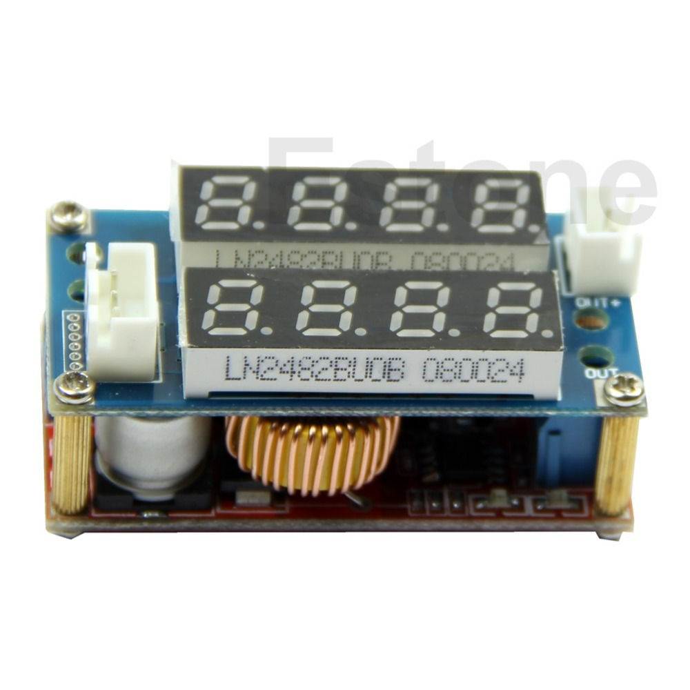 C18 + Free Shipping 5A Adjustable Power CC/CV Step-down Charge Module LED Driver Voltmeter Ammeter(China (Mainland))