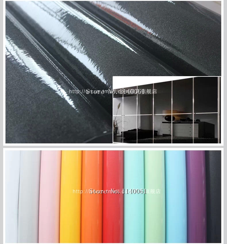plain pearl finish water proof PVC self adhesive for kitchen cabinet home decoration wall sticker(China (Mainland))