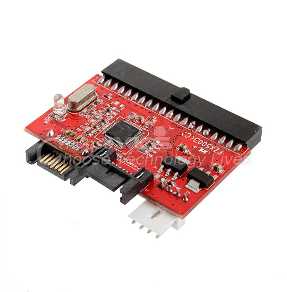 1 pcs Free / Drop Shipping IDE HDD to SATA Serial ATA Converter Adapter(China (Mainland))