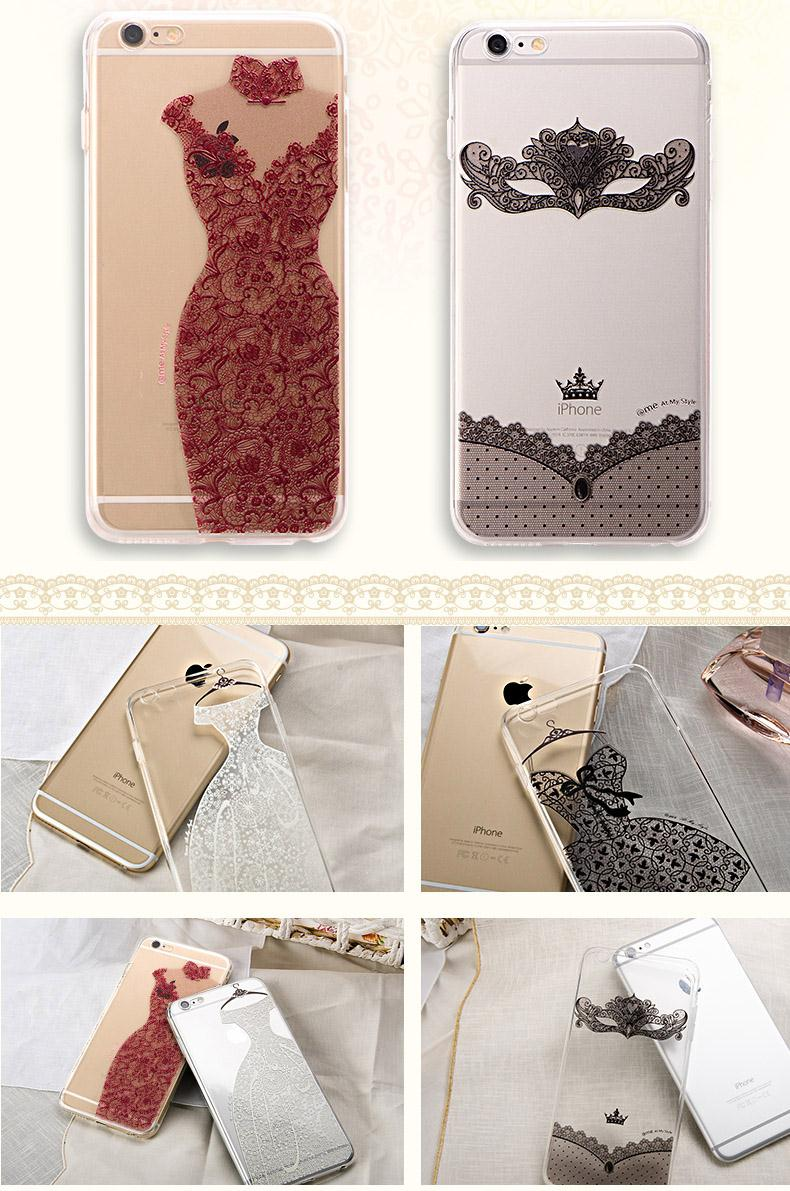 case For Apple iPhone 5 5s SE cover Classic Lace Flower skirt soft Capa Para Funda Coque for iphone SE Back Cover Red Skirt Capa