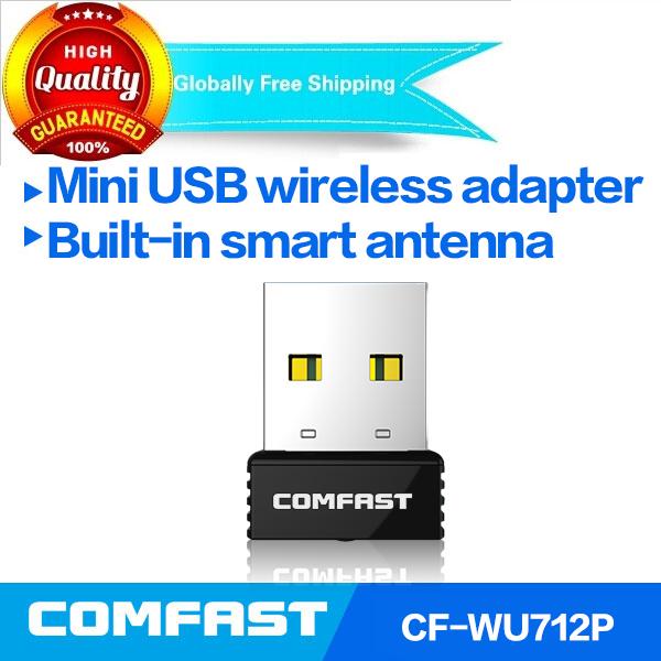 RTL8188EUS mini usb wifi 150mbps wireless adapter 802.11n/g/b usb wifi dongle COMFAST CF-WU712P Network Card free shipping(China (Mainland))