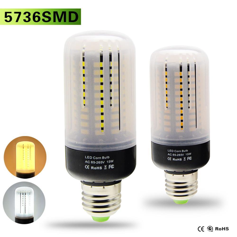 led bulb e27 15w led corn lamp ac85v 265v no flicker. Black Bedroom Furniture Sets. Home Design Ideas