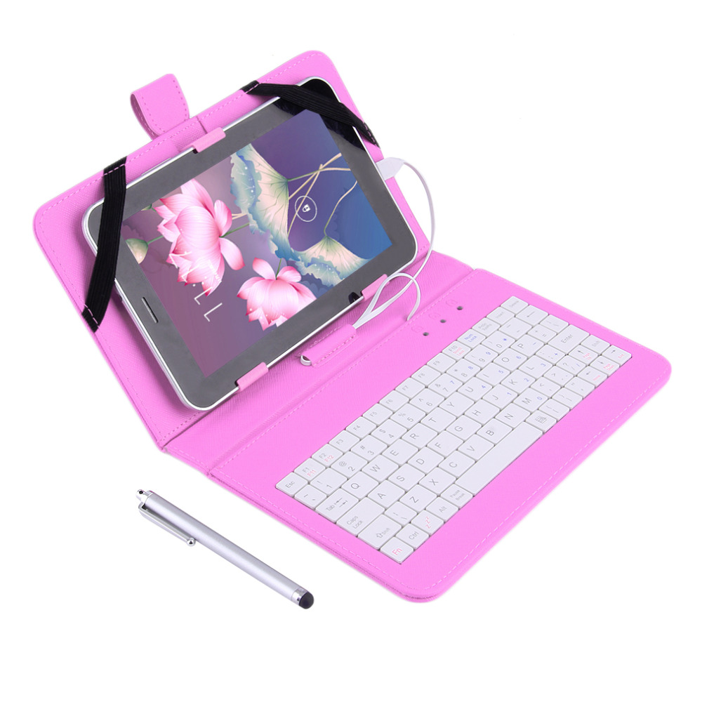 """7"""" PU Leather Case Cover With USB Keyboard for 7"""" inch Android Tablet PC Wholesale 2016 newest(China (Mainland))"""
