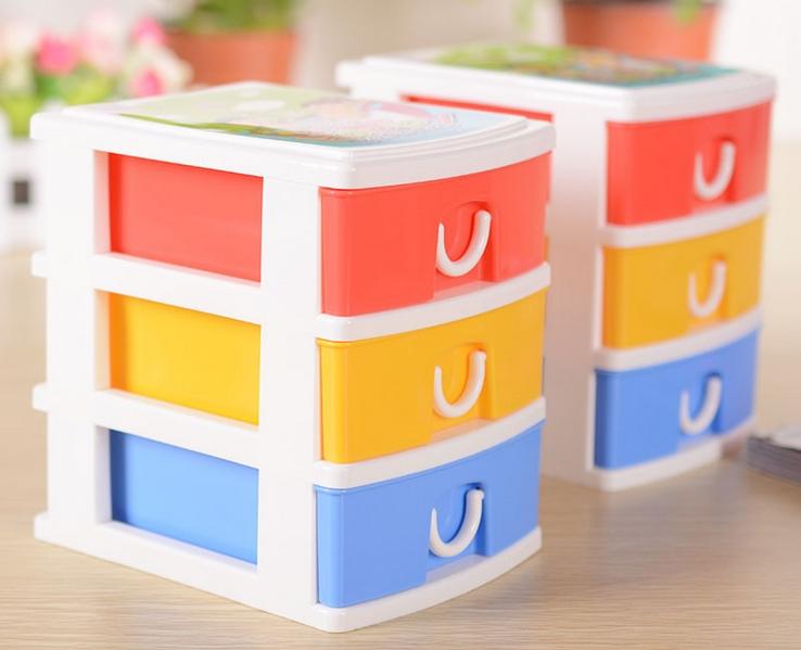 3 Layer Multy Colors Jewery Accessories Storage Box Plastic Home Organizer Free Shipping(China (Mainland))