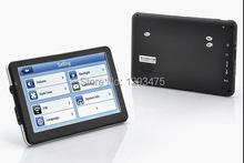 7 INCH HD CAR GPS NAVIGATION CPU MTK 800MHZ 128M/4GB+ FM + Free maps(China (Mainland))