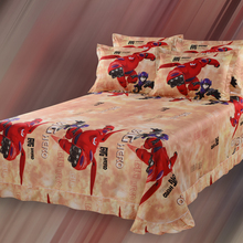 Big Hero cartoon 100% cotton  bedding set(China (Mainland))