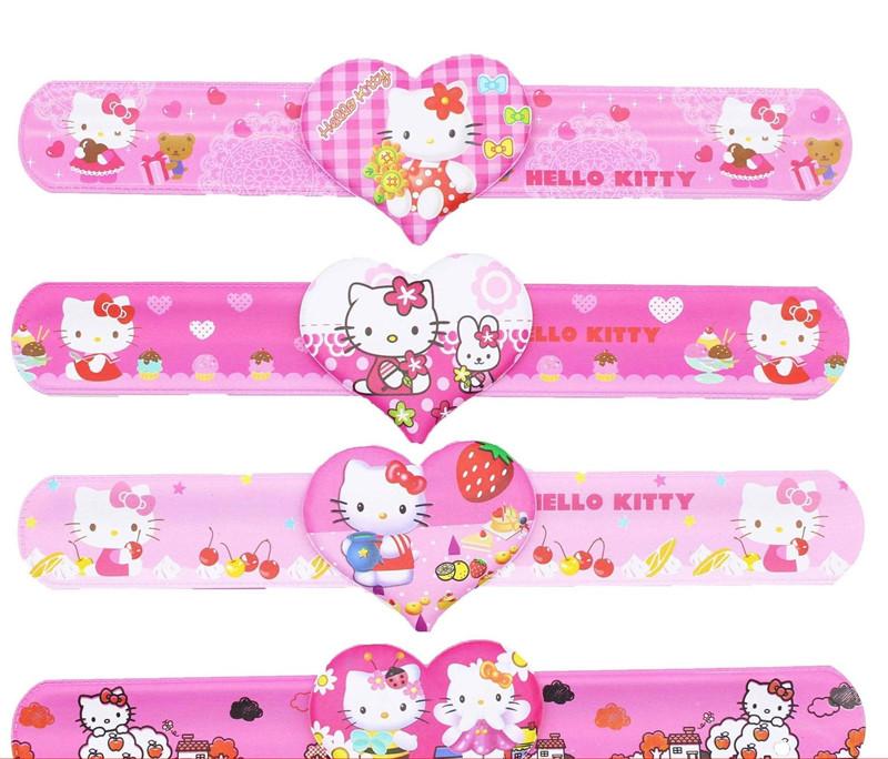 12pcs Hello Kitty Slap Bracelets Baby Shower Favors Girl Birthday