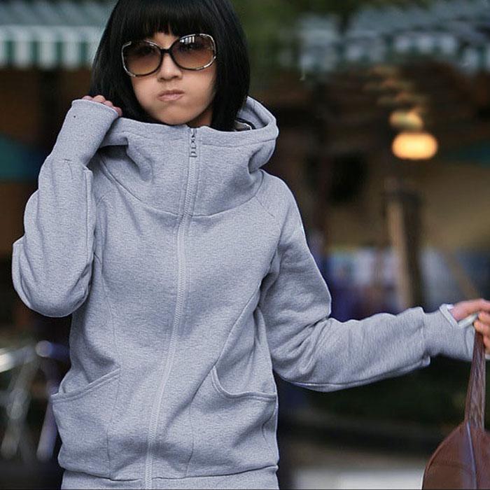 Yifan Autumn Winter Lady Hoodies Coat Sweatshirt Jacket Pullover Encase Finger Long Sleeve Tops Shirt Outwear Sweatshirt blusas