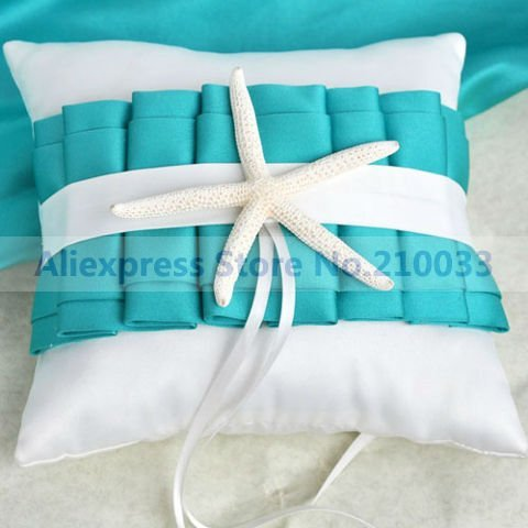 Beach Theme Something Blue Wedding Ring Pillow for Wedding Ceremony Party Stuff Accessories Free Shipping New Arrival