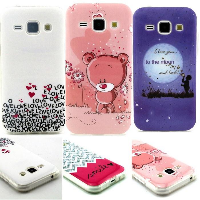 For Samsung J1 Case Cute Flower Owl Cat Soft Rubber Gel TPU Phone Skin Cover Case For Samsung Galaxy J1 J100(China (Mainland))