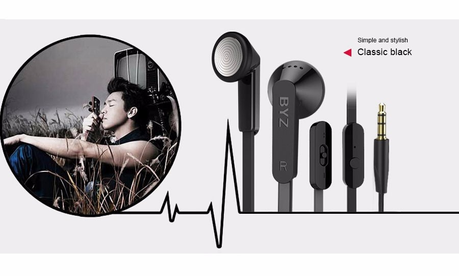 Original BYZ S600 In-Ear Earphone Professional Denoising Headset With Microphone Super Clear Bass For Xiaomi iPhone MP3/4 Player