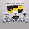New Design SOULERA GD 8000mah Eye Patch Bear With Goggles Power Bank External Battery Charger for