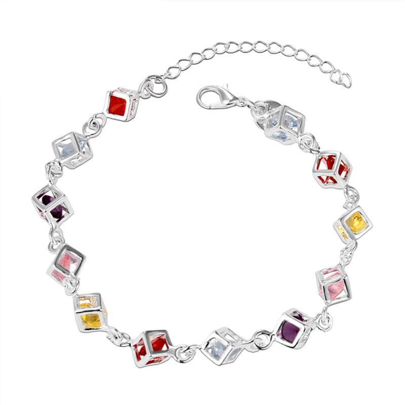Silver Plated 2016 New Fashion Crystal Rhinestone Bracelet brand Fine Jewelry Gift Bangles Women Christmas girls - Jiayiqi Flagship Store store