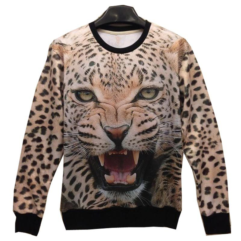 [Mikeal] New Fashion Women/Men tiger Pullovers 3d sweatshirts palm/pug Purple nebula print tiger Hoodies top SHW01(China (Mainland))