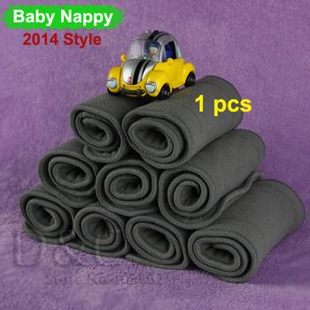 1 шт. уголь хлопок ткань пеленки вставки подгузник пеленания ребенка подгузник сумки ...