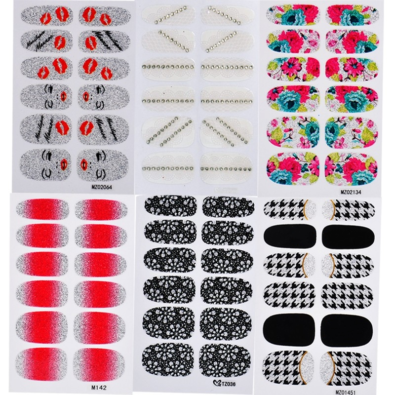 New 6 kinds Designs Nail Art Water Decals,6sheets/lot DIY Flowers Nail Accessories,Minx Nail Transfer Foil Stickers,Wholesale(China (Mainland))