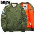 Plus Size 4XL 5XL Winter Men Bomber Jacket 2016 Air Force One Hip Hop Patch Designs